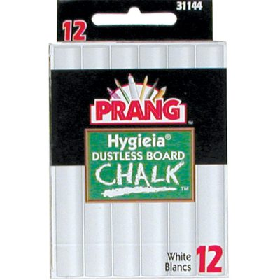 Dustless School Chalk CHALK H12 - 12 pack