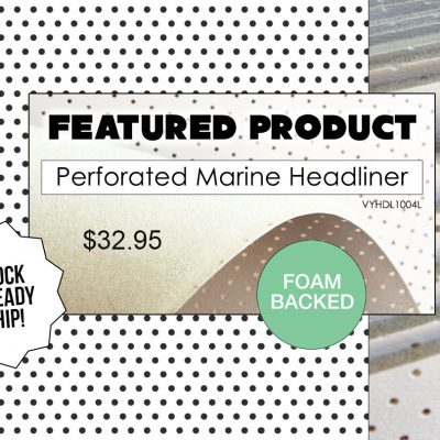 Action Upholstery Supply perforated marine headliner