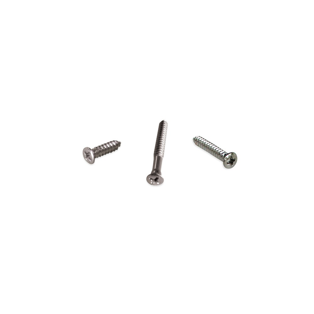 Chrome Phillips Oval Head Tapping Screw