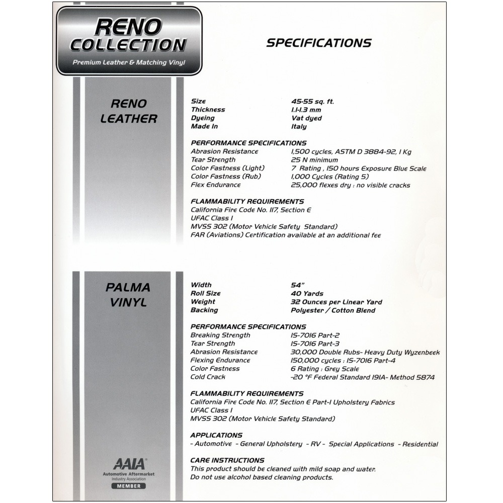 leather-reno-specs