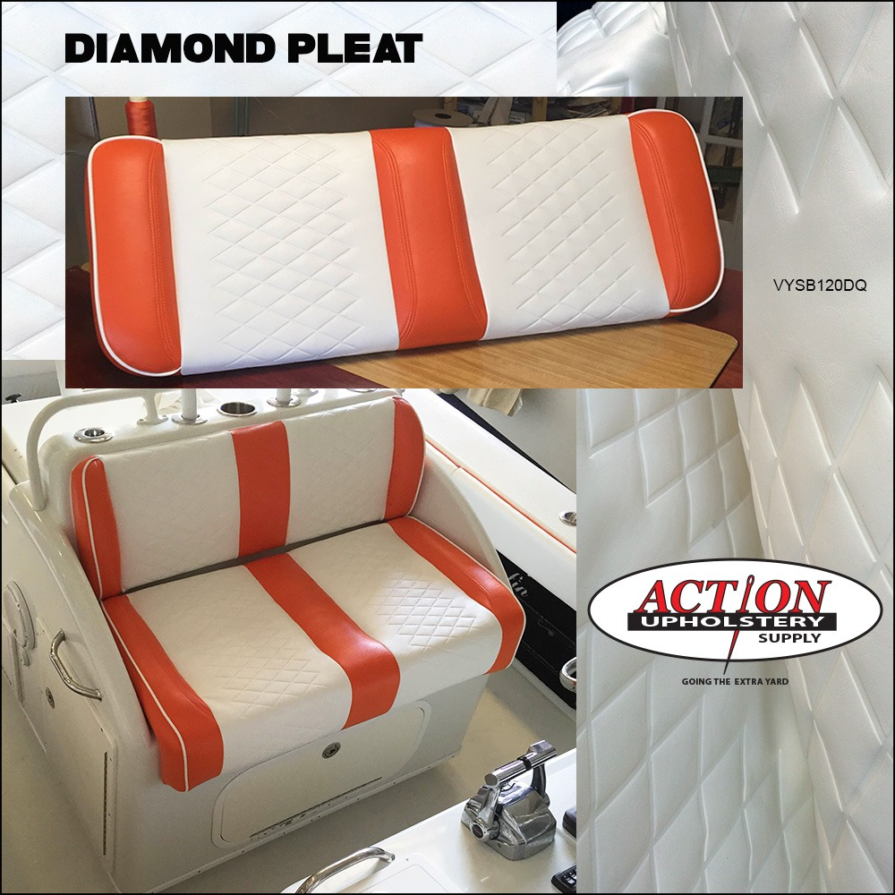 Diamond Pleat Marine Vinyl